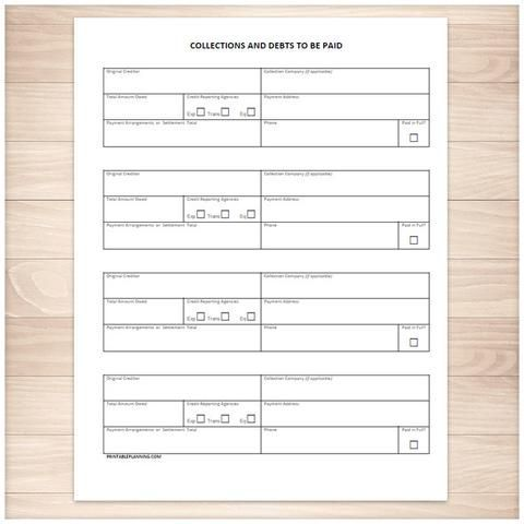 bill payment tracker log full year printable at printable planning for only 500