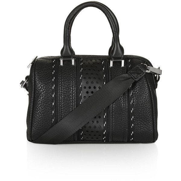 Top Sporty Bowler Style Tote 48 Liked On Polyvore Featuring Bags Handbags Black Hand Purse Bowling