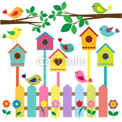 Bambini Arte Artigianato vernice proprio in legno Bird House nido Creative 12cm x 14cm