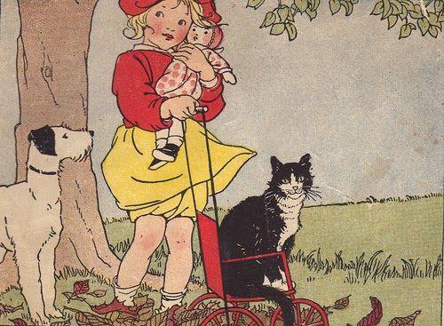 "Illustration by Marguerite Davis - The Children's Own Readers ""Friends"" Primer…"