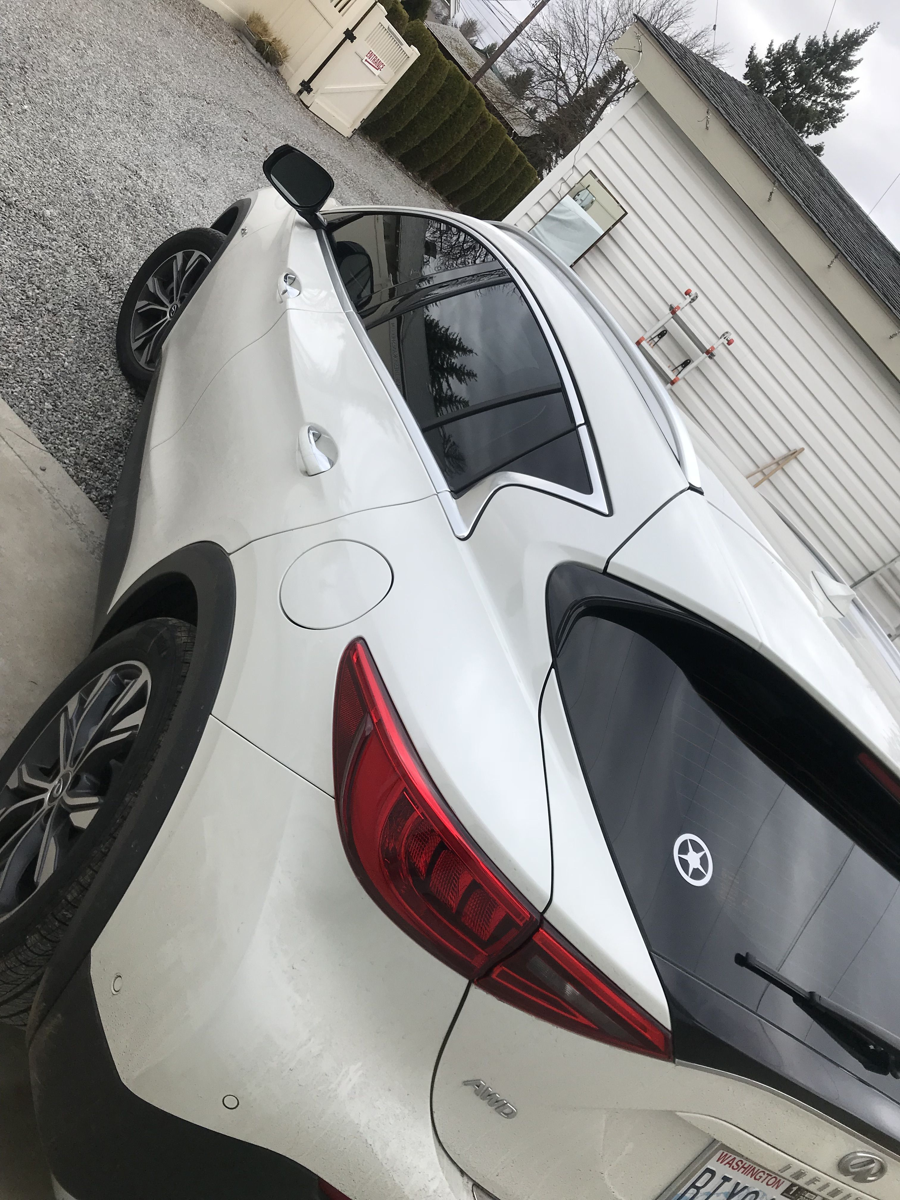 2018 Infiniti Qx30 Some Protective Film Was Installed Onto The