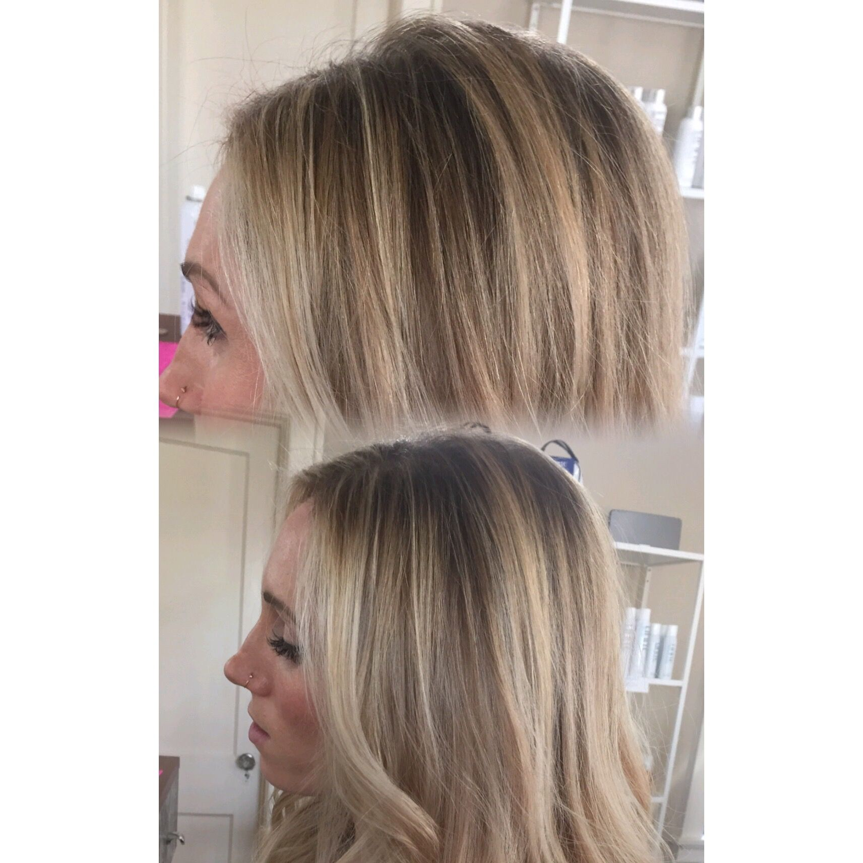 Behind The Chair Ombre Bronde Babylights Highlights Seamless Root Shadow Shaded