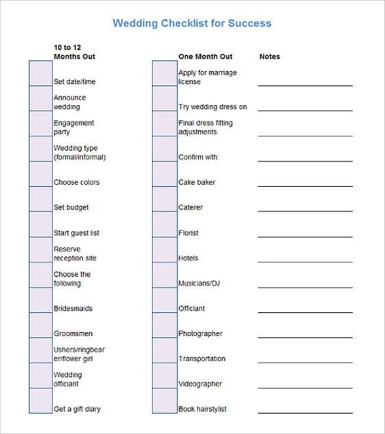 70+ Free Download Best Checklist Template