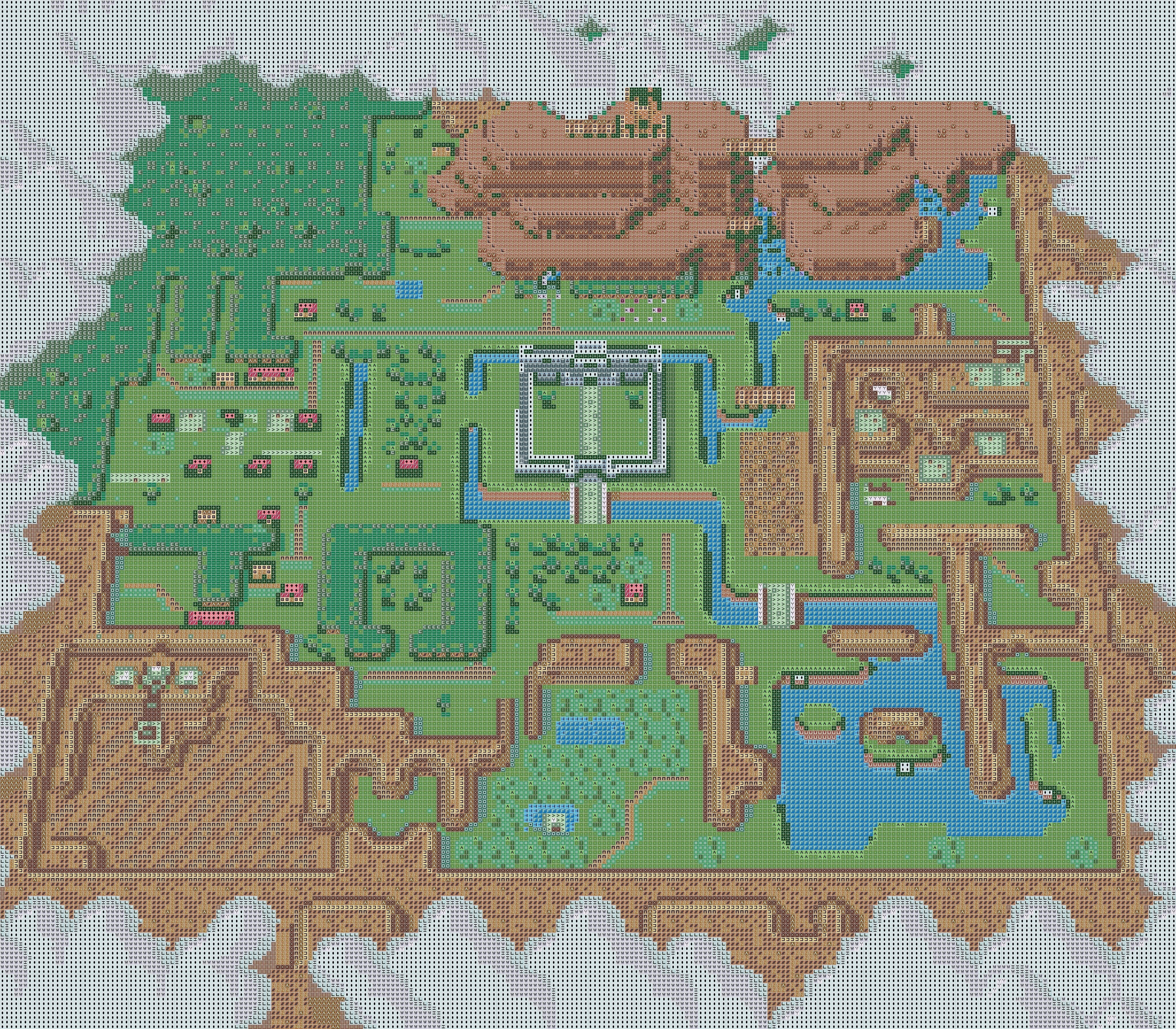View Topic Zelda A Link To The Past Map Light World Geek Cross Stitch Cross Stitch Map Diy Cross Stitch Ideas for zelda link to past map