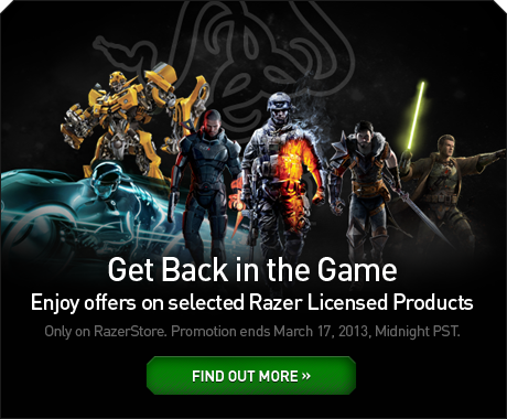 Enjoy great offers on selected Razer Licensed Products