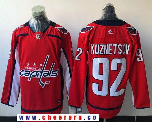 Men s Washington Capitals  92 Evgeny Kuznetsov Red Home 2017-2018 adidas  Hockey Stitched NHL Jersey 72437d32f
