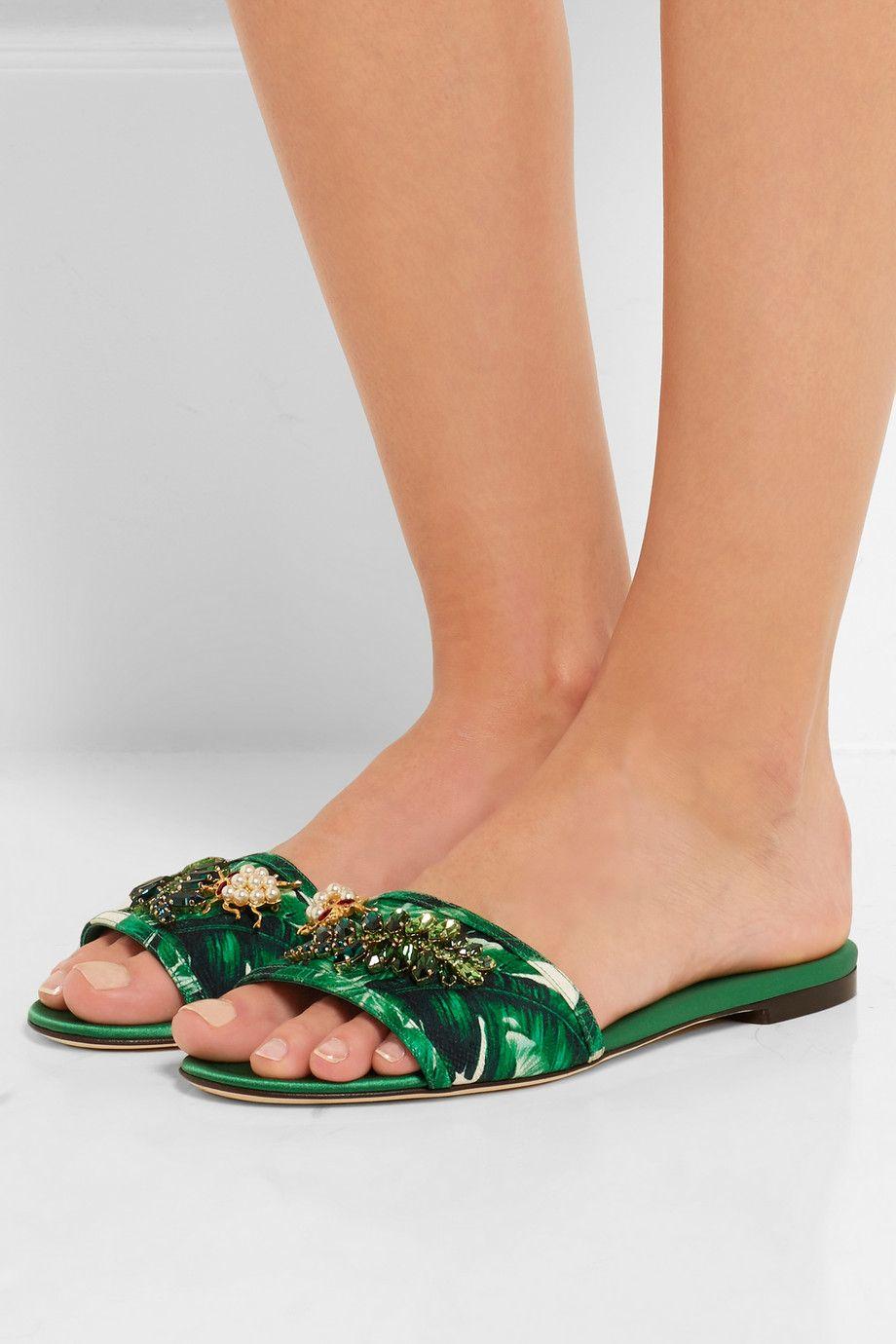 Embellished slides Dolce & Gabbana lEDzKQJb04