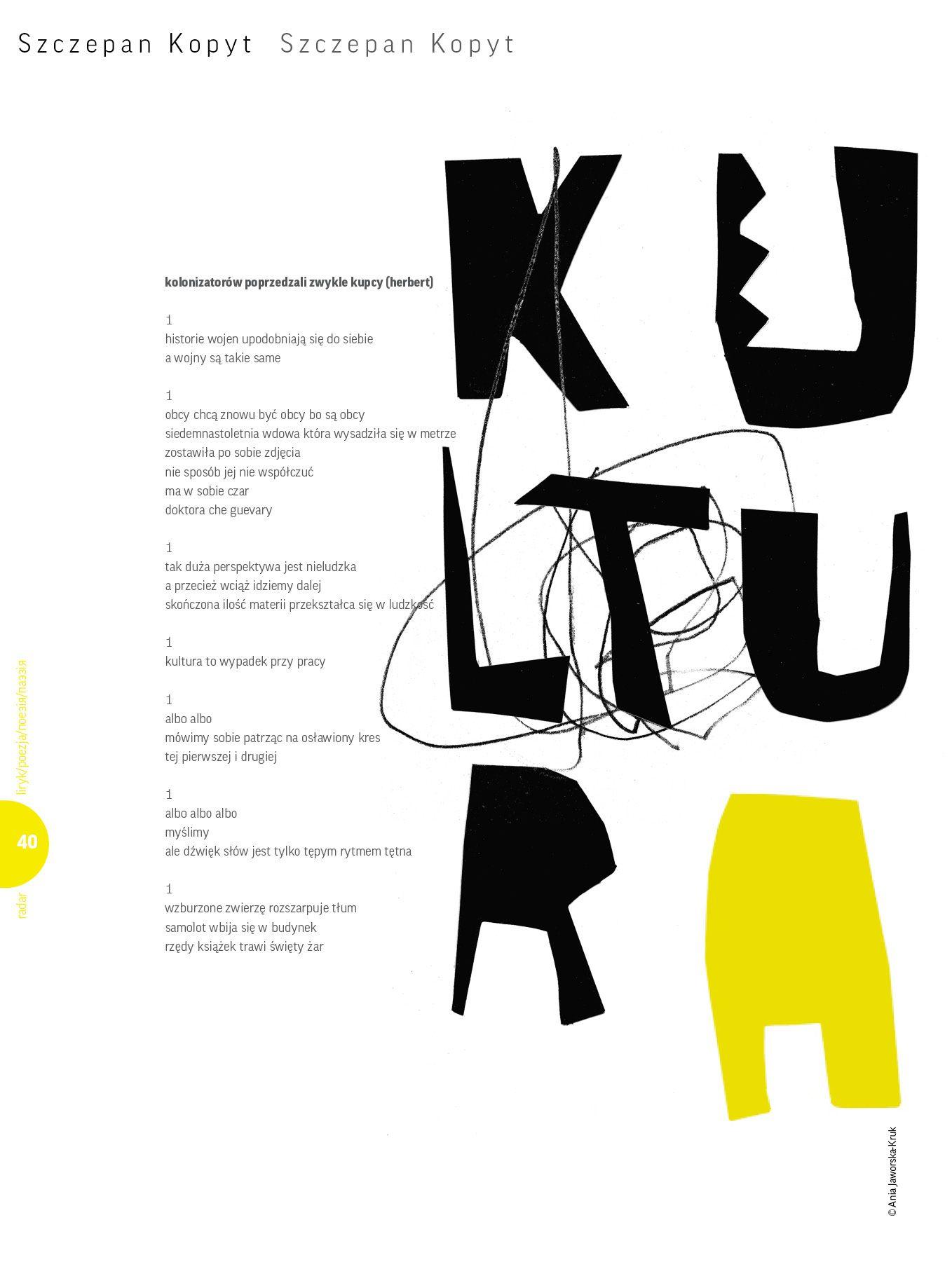 Wiersz Szczepan Kopyt Ilustracja Ania Jaworska Kruk