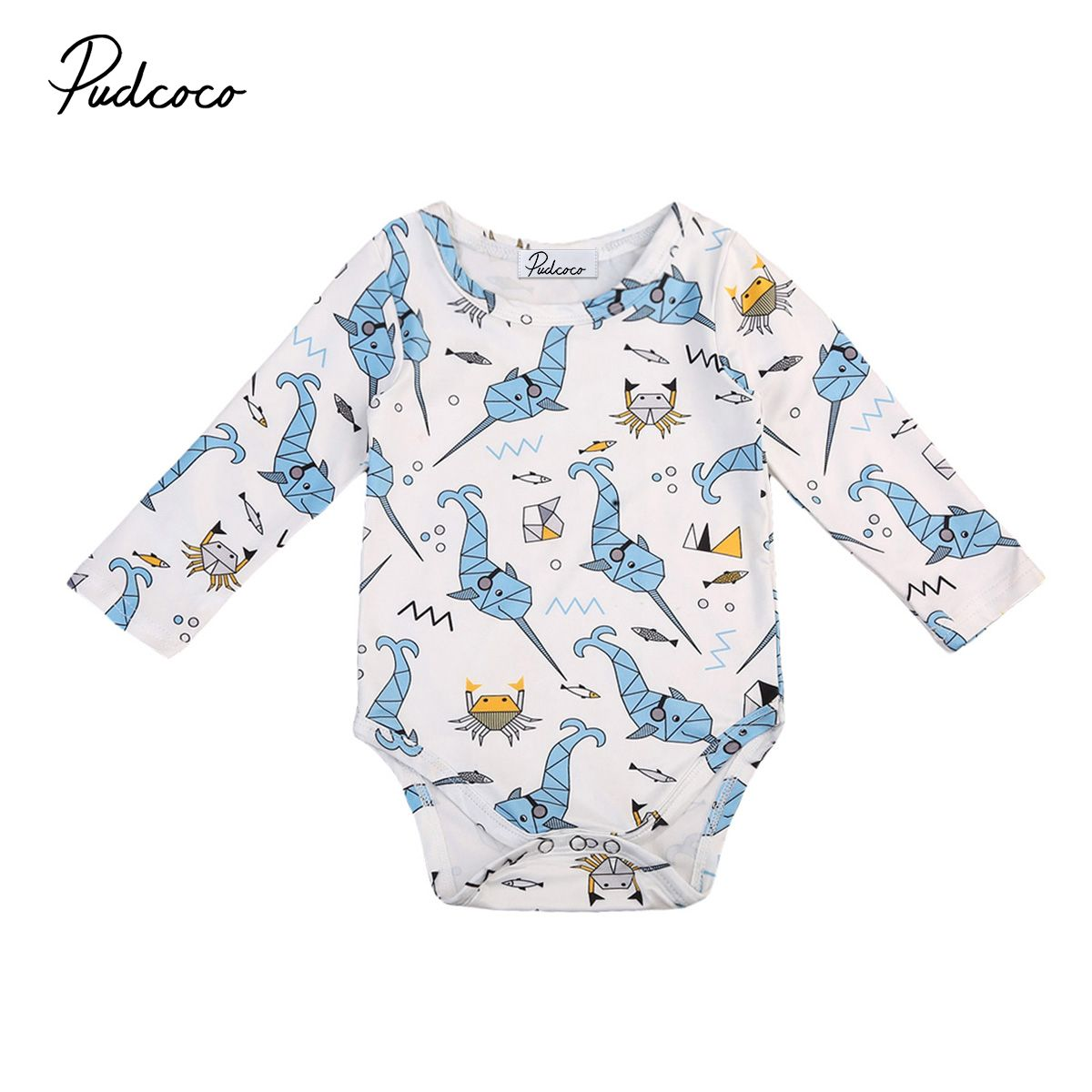 Sabei Baby Girl Boy Clothes Animals Cartoon Bodysuit Romper Jumpsuit Outfits Baby One Piece Long Sleeve