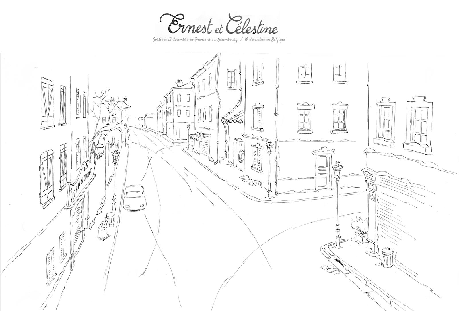Ernest et celestine layout decors background - Ernest et celestine coloriage ...