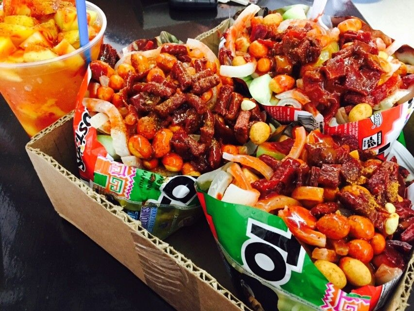 Tostilocos Recipe Mexican Snacks Mexican Street Food Mexican Food Recipes It's a delicious variety of flavors and textures. tostilocos