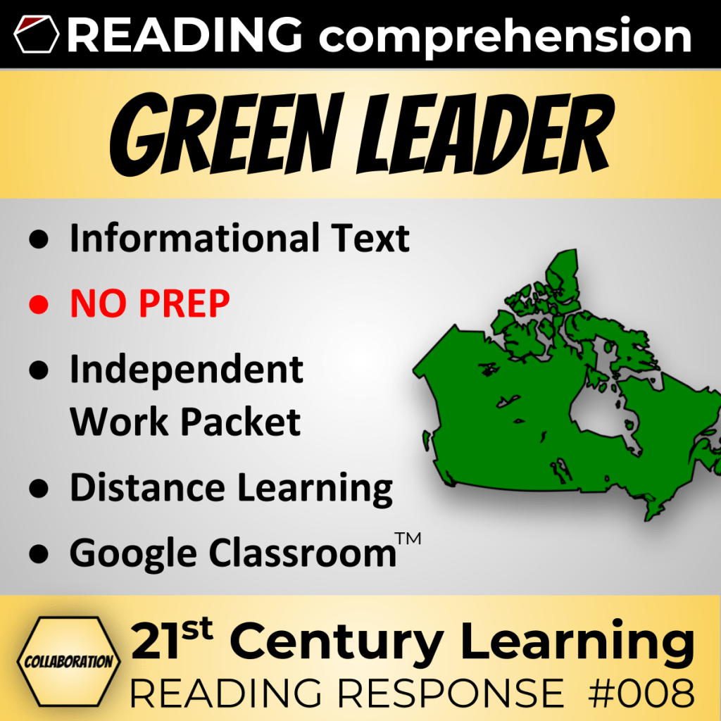 Green Leader Collaboration Lesson Reading Response Article 008 Reading Response Informational Text Mini Lessons