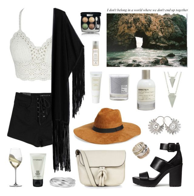 """""""Don't belong in a world, where we don't end up together."""" by vannyroxx ❤ liked on Polyvore featuring WithChic, H&M, Accessorize, NOVICA, Maison La Bougie, Chanel, MeditationRings, Riedel, MAC Cosmetics and Le Labo"""
