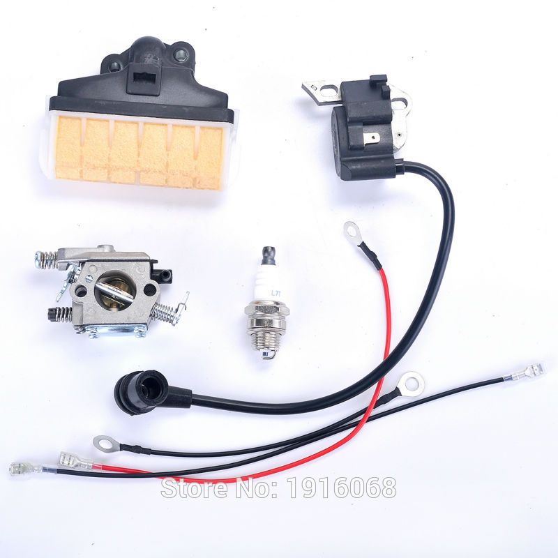 Chainsaw Parts Of Stihl 023 025 Ms230 Ms250 Ms 230 Ms 250 Walbro Carburetor Carb Ignition Coil Air Filter Stihl Spark Plug Garden Supplies