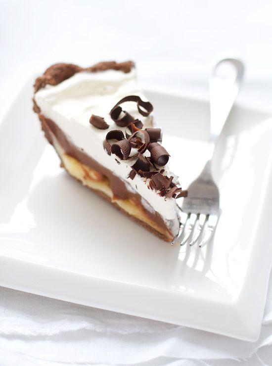 Chocolate and banana cream pie.