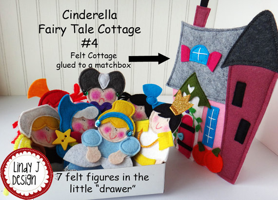 FAIRY TALE MATCHBOX Cottage 4 Cinderella Pdf by LindyJDesign. What a great idea!