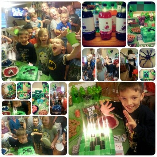 The finished project was a huge success! #Minecraftbirthdayparty