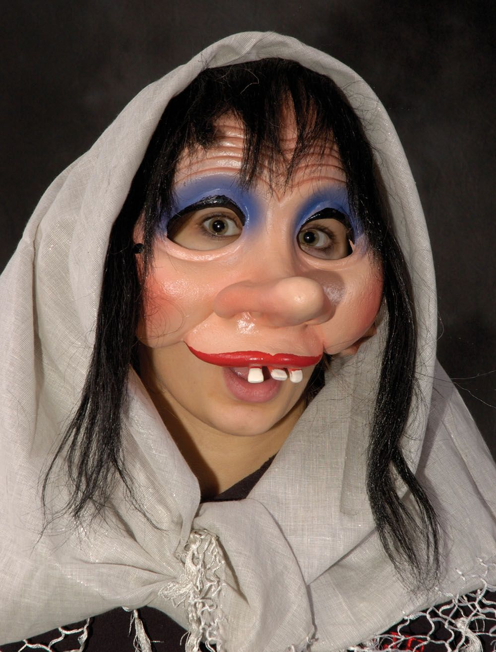 Shy creepy ugly lady Halloween mask | Human Face Halloween Masks ...