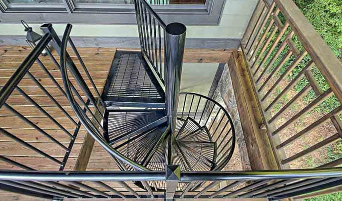 Best The Retreat Custom Color Outdoor Spiral Stairs Paragon 400 x 300