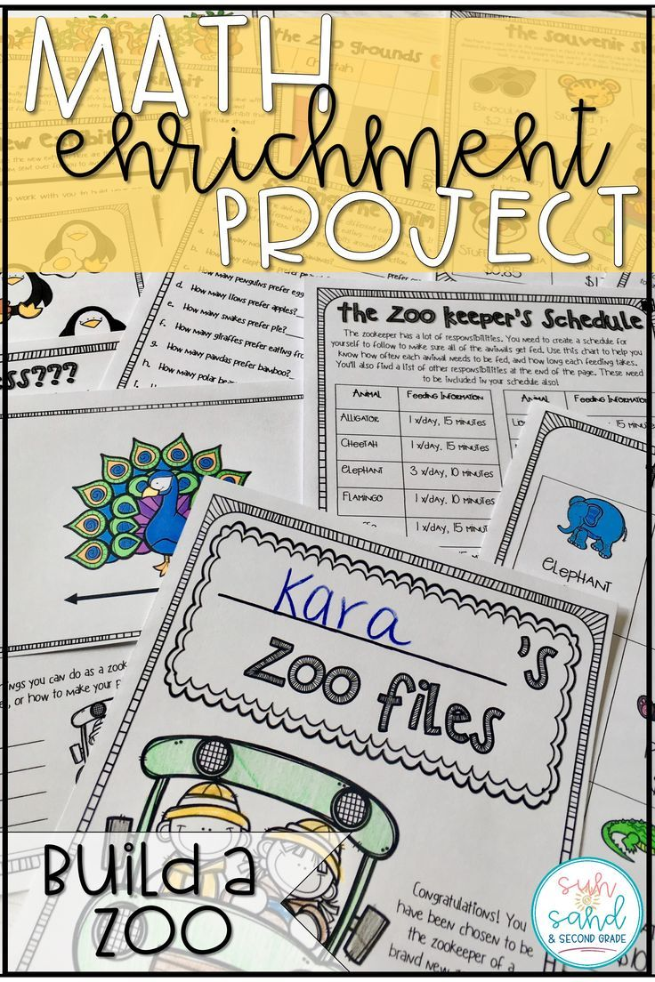 At Home Learning Math Project | Build a Zoo PBL Math Enrichment Project
