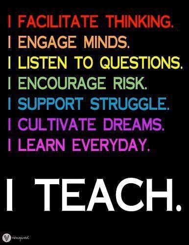 I teach.