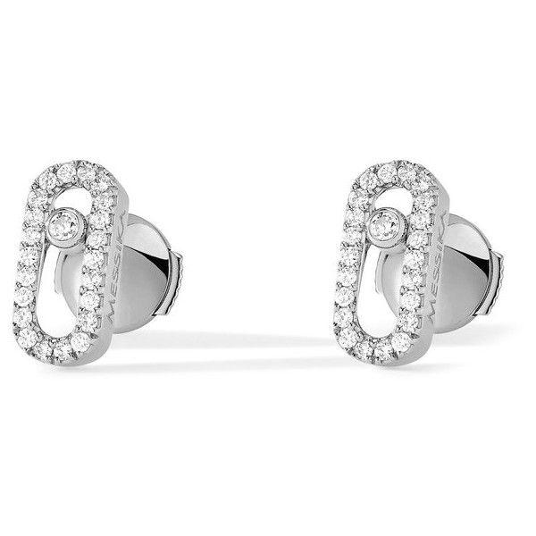 Messika Move Uno Diamond Stud Earrings in 18K White Gold kuxNq1IiO