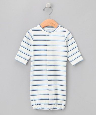 Take a look at this Blue Spinnaker Stripe Convertible Gown - Infant by Mooncakes on #zulily today!