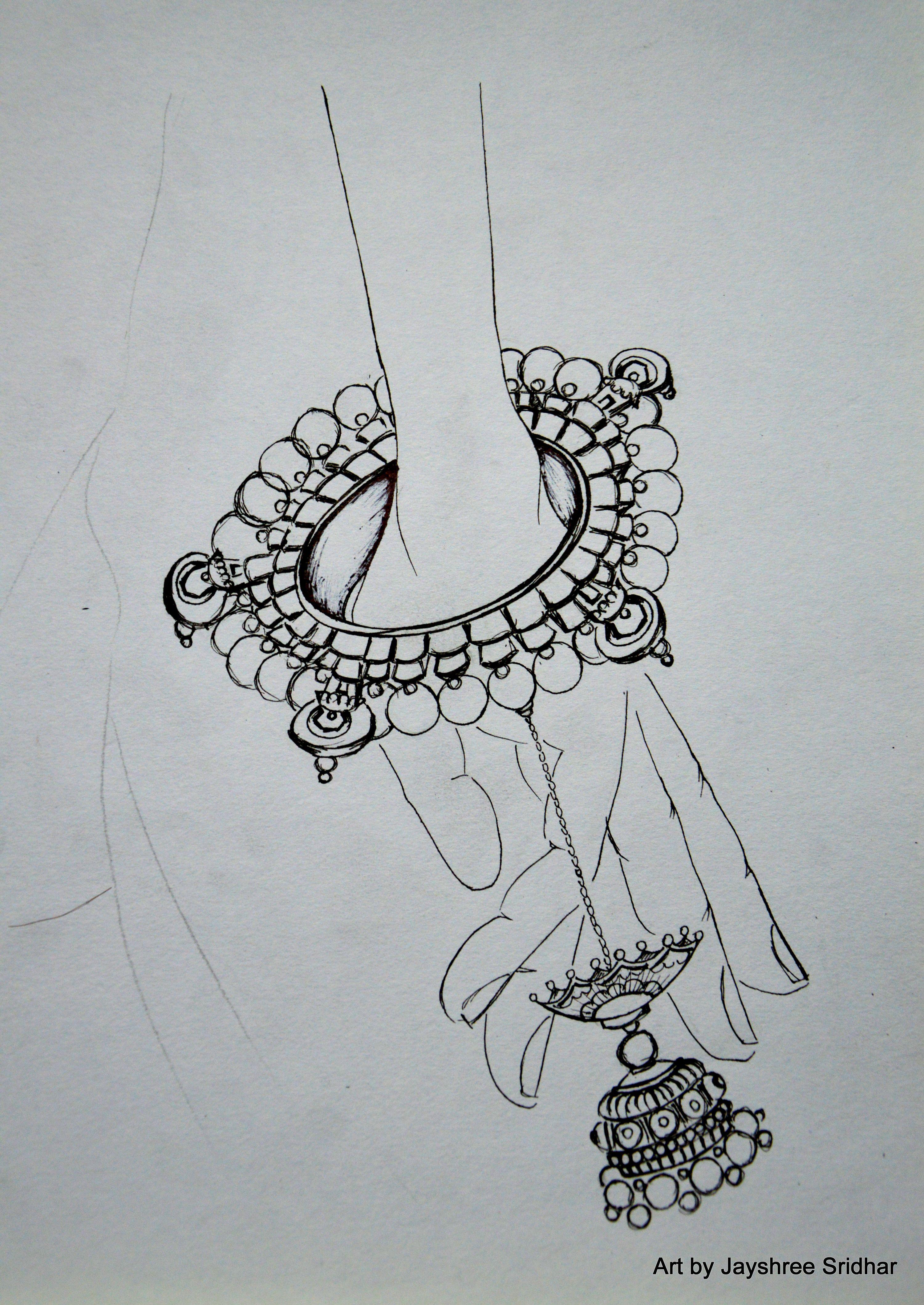 Image result for indian antique jewellery sketch | Art inspiration ...