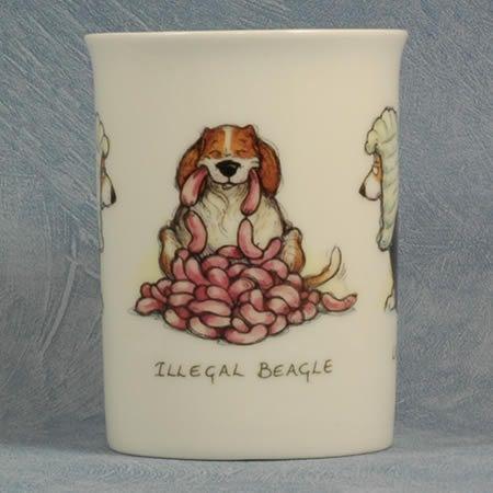 Legal Beagle Bone China Mug Beagle Book Holders China Mugs