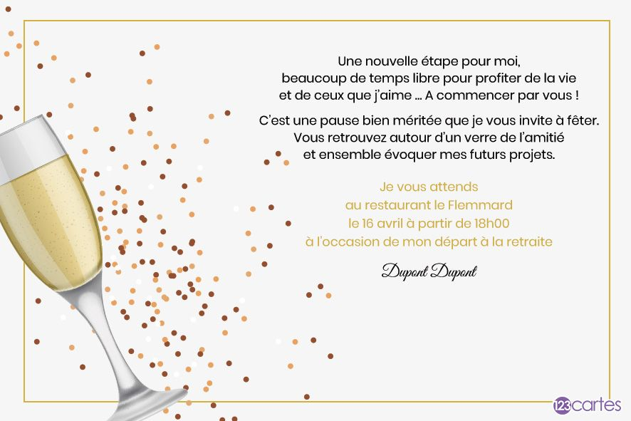 depart retraite invitation