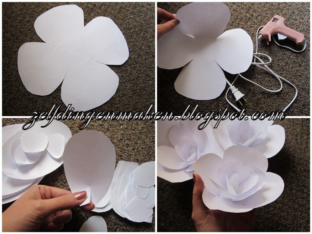 zelf dingen maken  bloemen van papier  diy bloemenboog