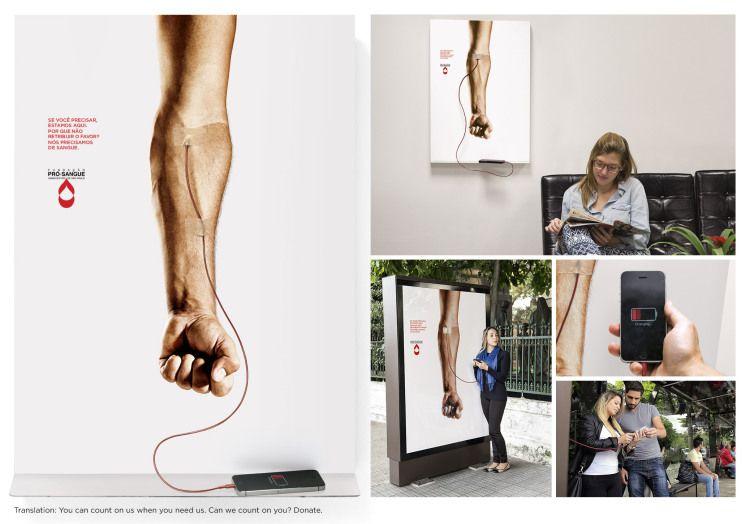 巴西廣告公司Publicis_Blood Charger Posters 創意互動廣告