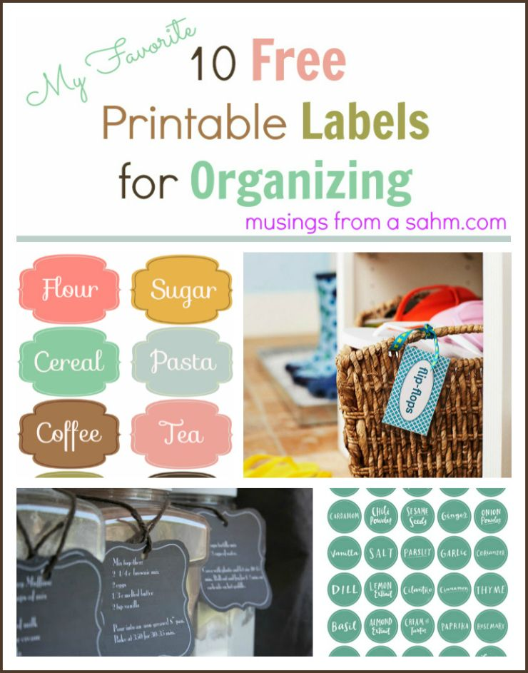 10 free printable labels for organizing musings from a stay at home mom