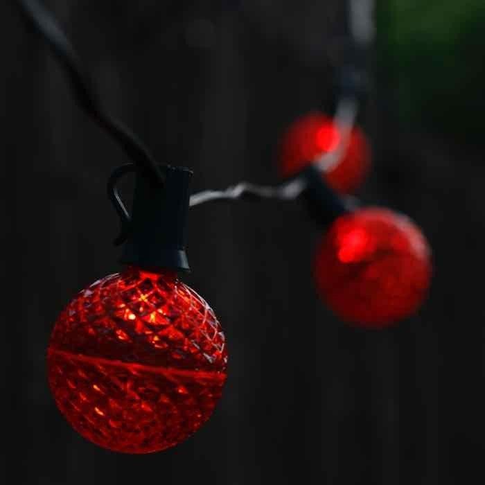 red g50 e12c7 led christmas light bulb