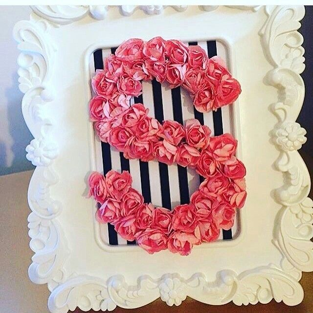 Letra S Hecha Con Flores Floral Letters Stylish Alphabets Flower Words