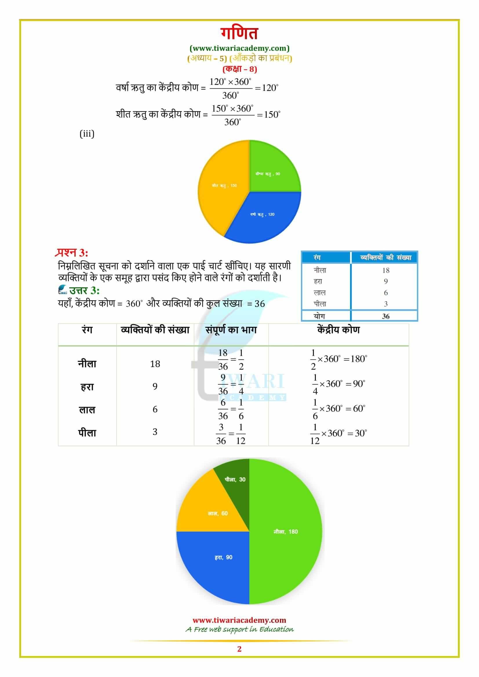 Cbse Ncert Solutions For Class 8 Maths Chapter 5 Data Handling In Hindi Medium Class 8 Math Solutions [ 2339 x 1653 Pixel ]