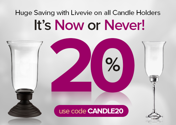 Decor the home with expensive and showy fittings. Get 20% off on all Candle Holders! Use #coupon code - CANDLE20 and enjoy #shopping with Livevie! Order at http://www.livevie.com/candle-holders.html