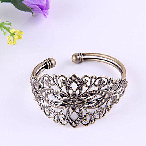 Vintage Bronze Brass Flower Filigree Bangle Bracelet 35x65mm FASHION Epower Mall http://www.amazon.com/dp/B00DZJSIHK/ref=cm_sw_r_pi_dp_s2c0tb0A32AB6MFR