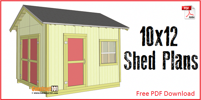 Shed Plans 10x12 Gable Shed Step By Step Construct101 Shed Plans Free Shed Plans 10x12 Shed Plans