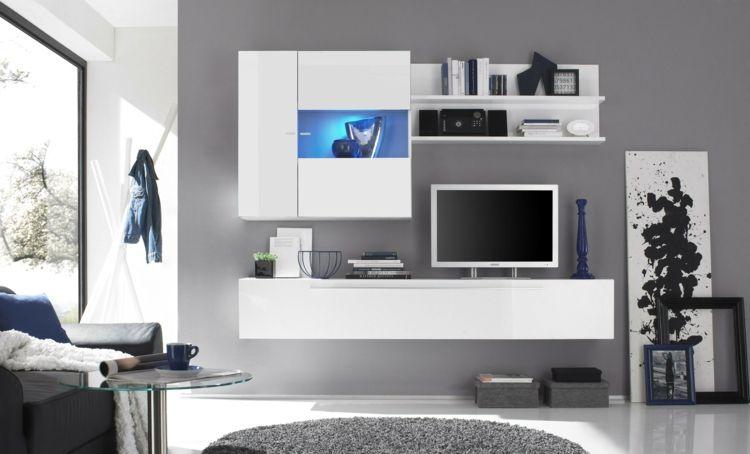 muebles de salón integrados blancos Mueble TV Don Carlos Pinterest - muebles de pared