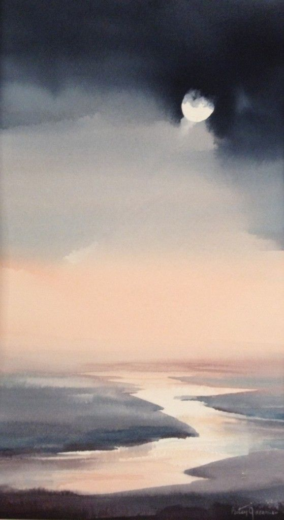 Moonlit IV, 2014, Watercolor by Betsy Jacaruso