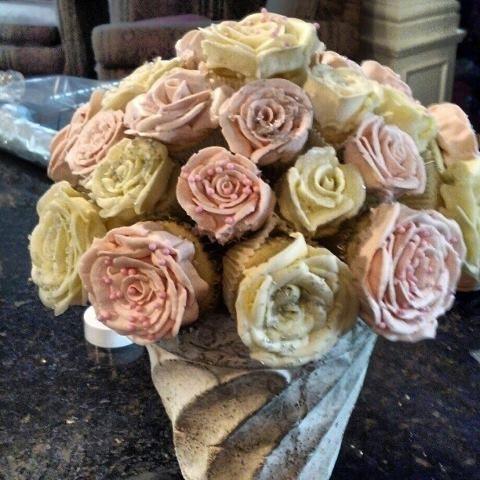Cupcake Bridal shower bouquets
