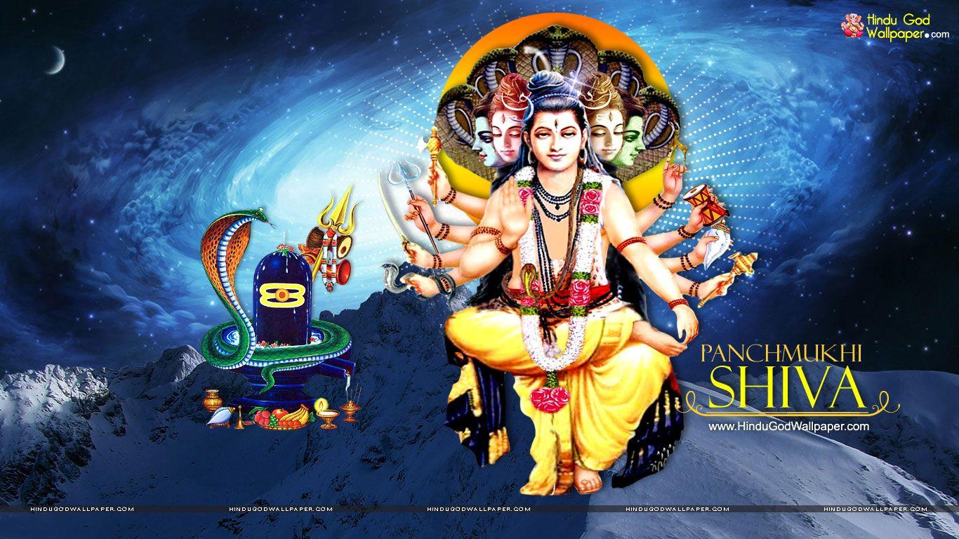 Hd wallpaper shiva - Panchamukha Shiva Hd Wallpaper Free Download