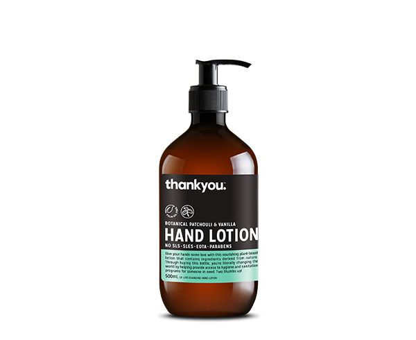 Thankyou Botanical Patchouli Vanilla Hand Lotion 500ml