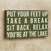 Put Your Feet Up Wall Plaque Green