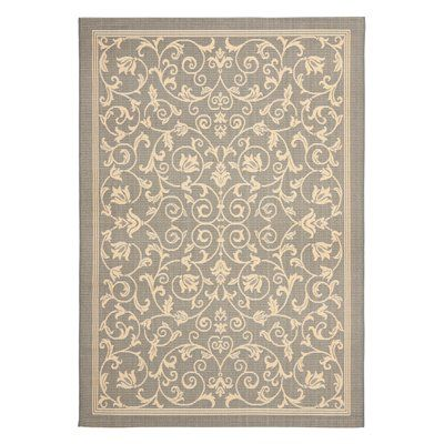 Safavieh CY2098-3606 Courtyard Area Rug, Grey / Natural