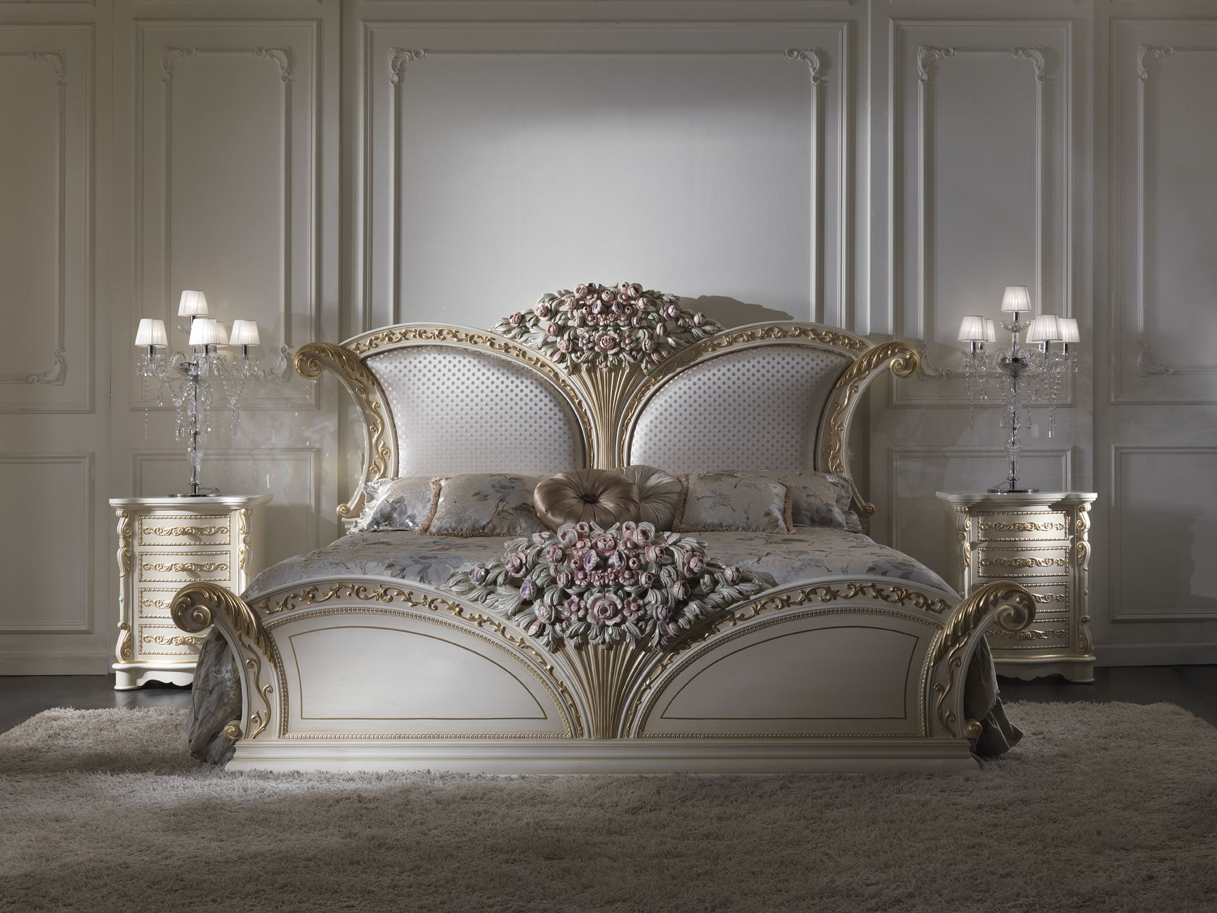 Luxury bedroom bed flower CEPPISTYLE For the Home in