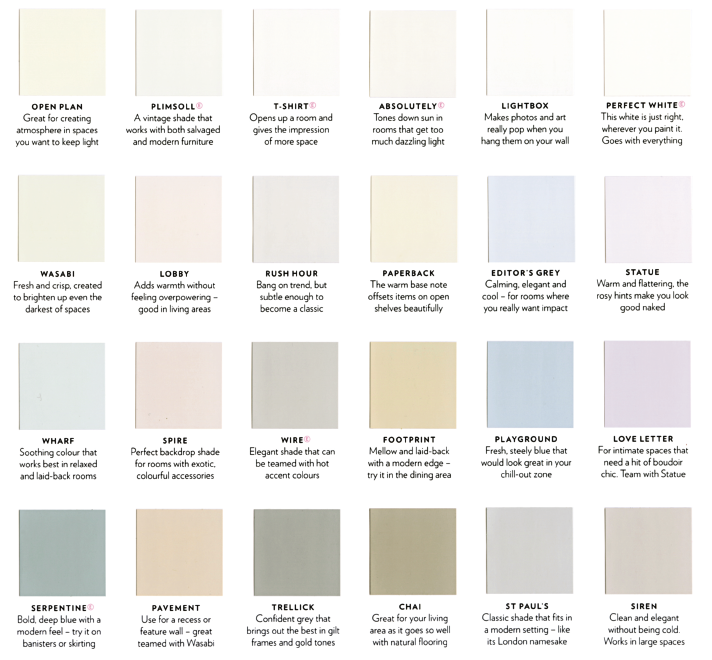 Paint Color Names List