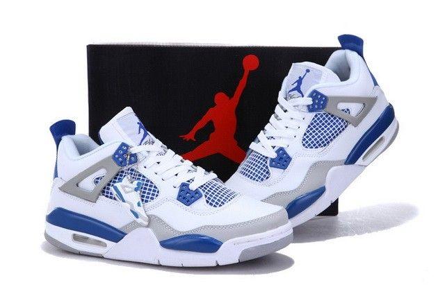 zapatos jordan blanco con azul