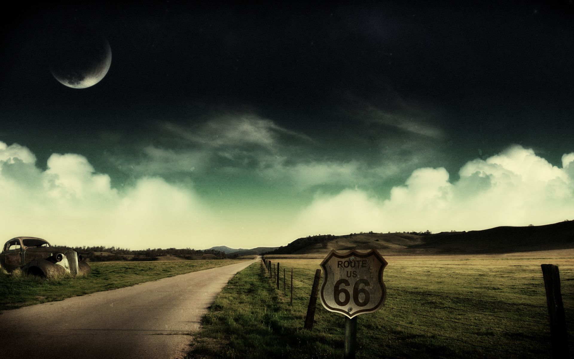 Route 66 HD background Wallpaper | nice | Pinterest | Abstract art ...